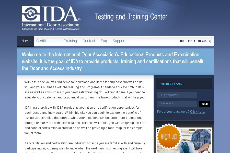 Website design for IDA